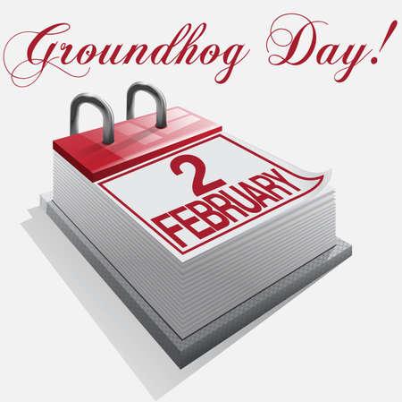 calendar 2 february groundhog day Stock Vector - 16921647