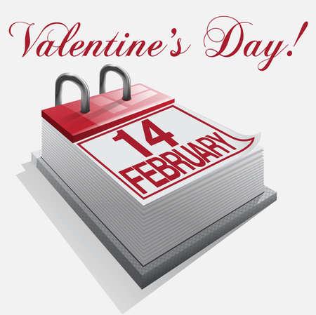 14: D�a calendario 14 de febrero de San Valent�n Vectores