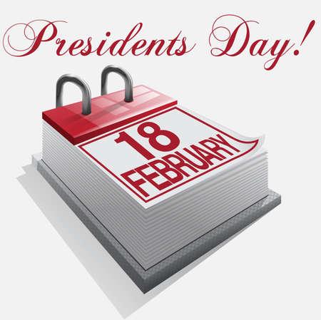 calendar 18 february Presidents' Day Stock Vector - 16921650