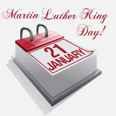 martin: Calendar 21 January Martin Luther King Day Illustration