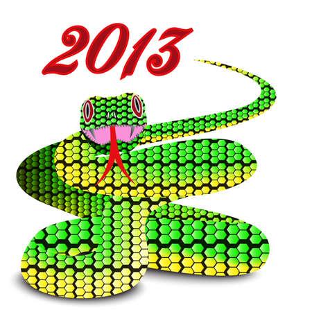 Snake 2013, vector image Stock Vector - 16921619