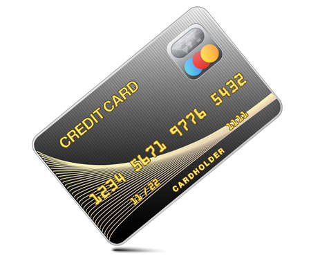 Icon credit card black isolated on a white background.Vector