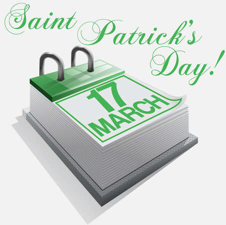 march 17: 17 March Saint Patricks Day Illustration