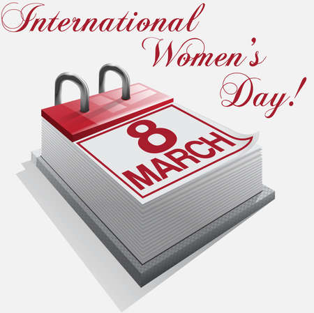 calendar 8 March International Womens Day Vector