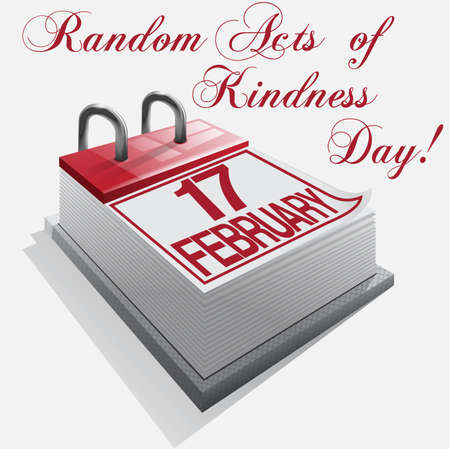 gentillesse: Calendar 17 F�vrier Random Acts of Kindness Day Illustration