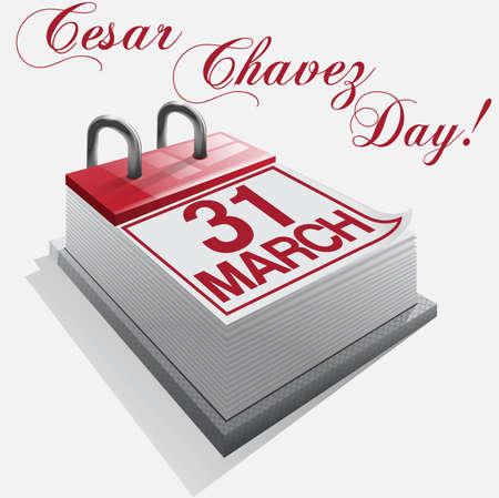 31: calendar 31 March Cesar Chavez Day