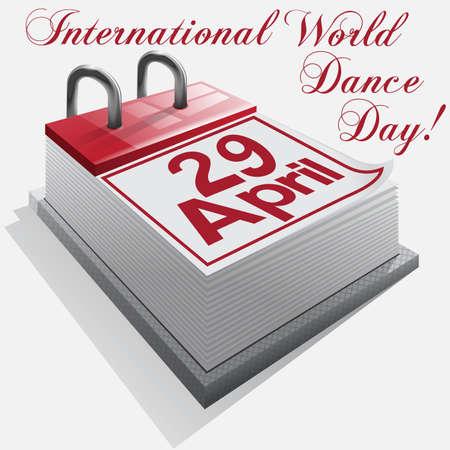 Calendar 29  April .International  World Dance Day Stock Vector - 18134791