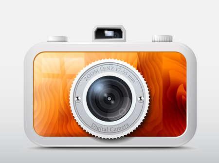 Camera wooden case    Illustration
