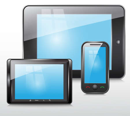 tablet and mobile phone icon Stock Vector - 18134771
