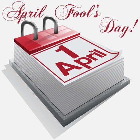 1 april, April Fool's Day, Dag van de lach. Stock Illustratie