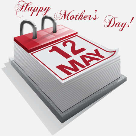 Calendar.12 May. Happy Mothers Day