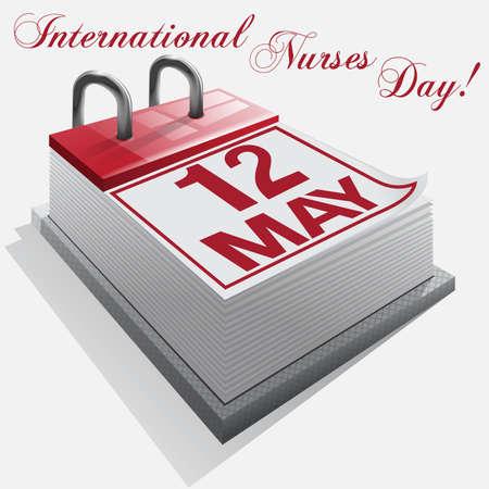 calendar.12 May. International Nurses Day Stock Vector - 18235183