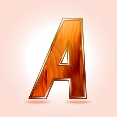 letter writing: Alphabet wooden, letter A