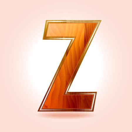 Alphabet wooden, letter Z   Illustration