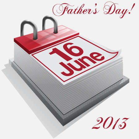 june: calendar 16 June, Father s Day, history Illustration