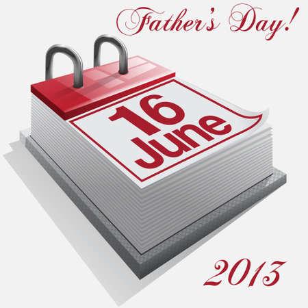 månader: kalender 16 juni, fader dag, historia Illustration
