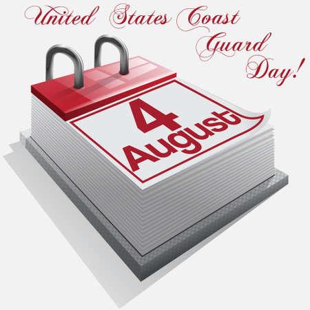 coast guard: Calendario de 4 de agosto, United States Coast Guard D�a