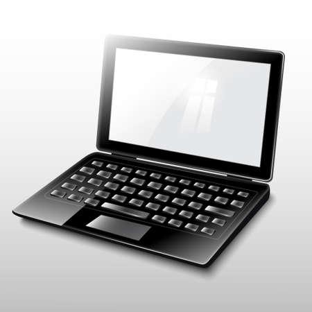 laptop black Stock Vector - 19006767