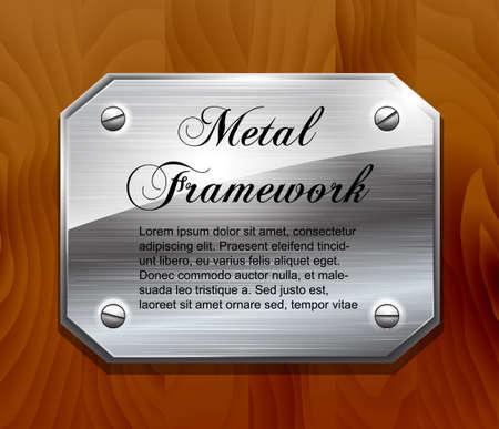 Metal plate , Vector Stock Vector - 19006954