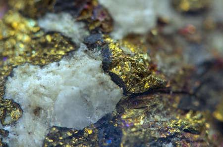 mineralogy: Nugget. Precious metals, crystals. Extreme closeup