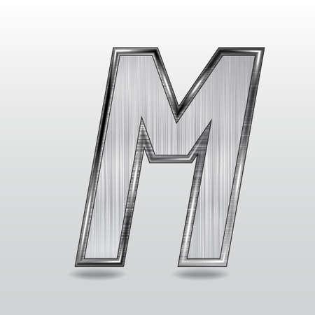 Alphabet metal, letter M.