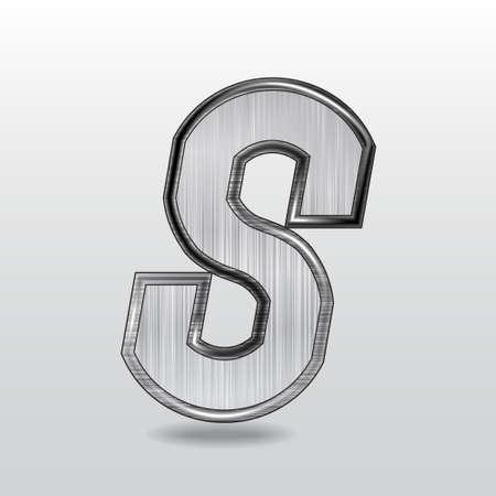 Alfabet metaal, letter S.