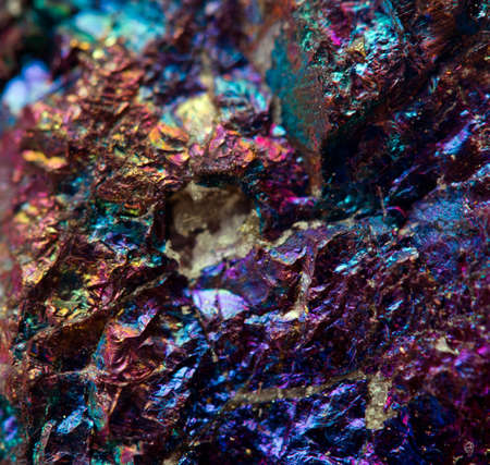Crystal,nugget, gold, bronze, copper, iron  Macro  Extreme closeup   Stock Photo
