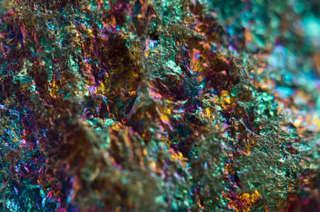 mineralogy: Crystal,nugget, gold, bronze, copper, iron. Macro. Extreme closeup Stock Photo