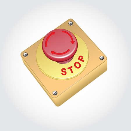 Button STOP Stock Vector - 21822146
