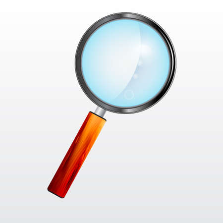 Magnifying Glass With The Wooden Handle Illustration