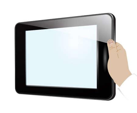 Tablet in hand Stock Vector - 21822181