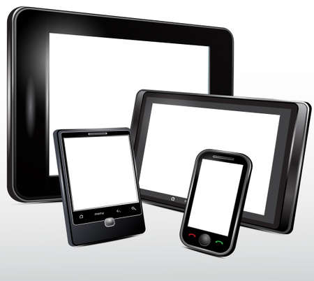 software portability: Electronic technics, tablet, mobile phone  Vector