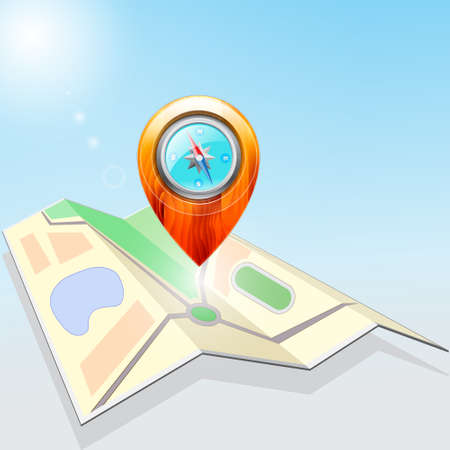 Icon, Map and Pointer Vector
