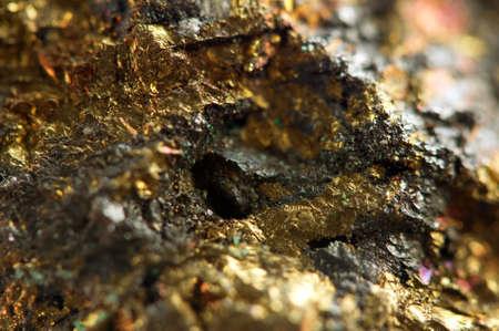 nuggets: Golden gem background  Macro Stock Photo