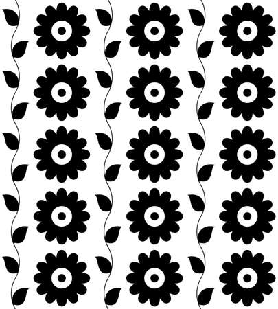 Seamless pattern black-and-white for background. Vector