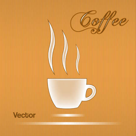 Coffee cup  design for background.Vector