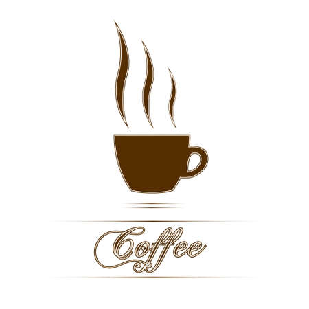 Coffee cup  sign in white background. Vector Illustration