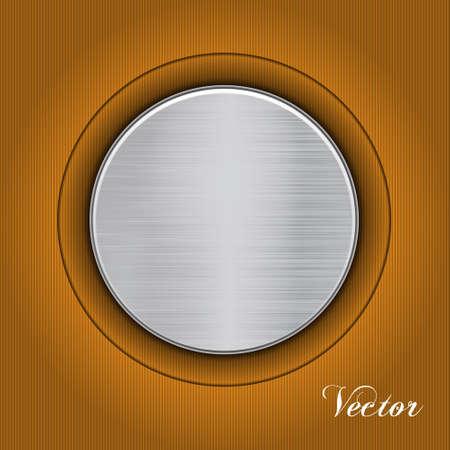 fond abstrait orange: R�sum� fond orange avec une plaque de m�tal. Vecteur