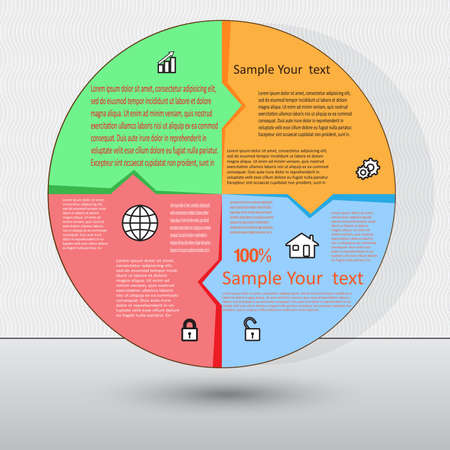 Vector illustration  for success business diagram infographic for  workflow  and other Your variants