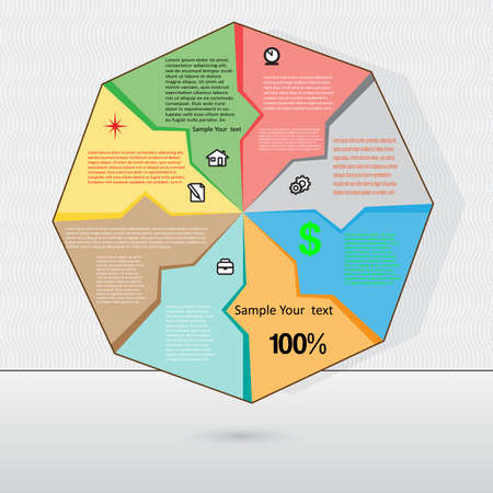 Vector illustration  for success business diagram infographic for  workflow   and other Your variants 13