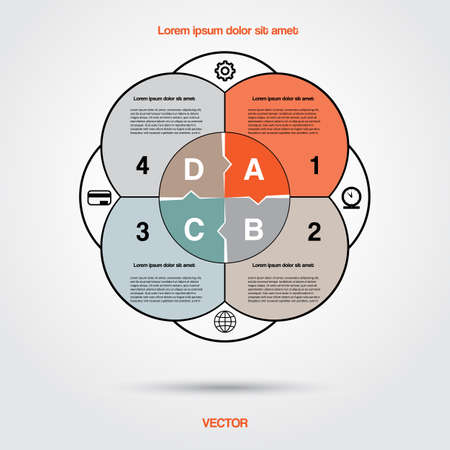 Diagram infographic for business project, workflow and other Your variant. Vector illustration template with text areas 8