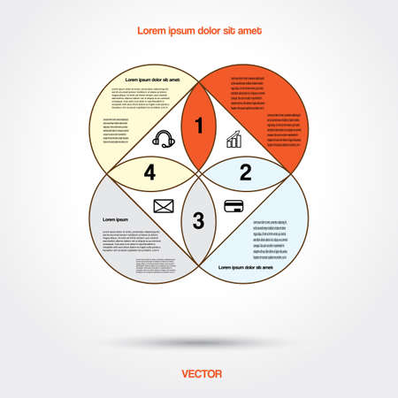 Diagram infographic for business project, workflow and other Your variant. Vector illustration template with text areas Illustration