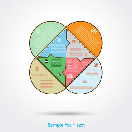 Diagram infographic for workflow and other Your variant. Vector illustration 2