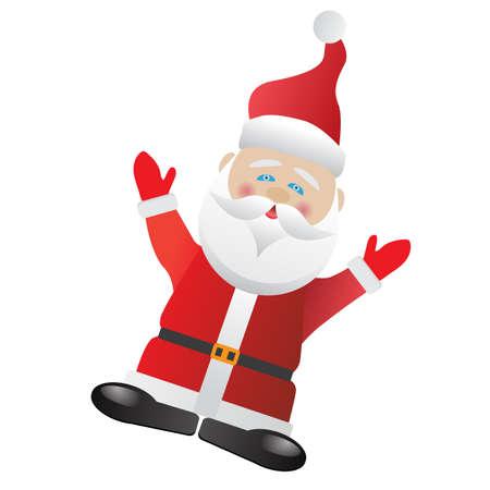 oldman: Santa Claus on white background.Vector