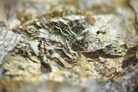 halide: Pyrite, or iron pyrite, is an iron sulfide with the chemical formula FeS2. Macro. Beautiful fantastic background for successful Your projects Stock Photo