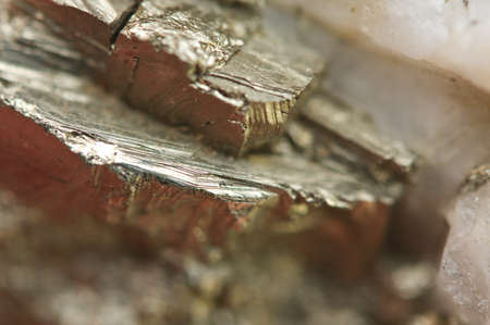 sulfide: Pyrite, or iron pyrite, is an iron sulfide with the chemical formula FeS2. Macro. Beautiful fantastic background for successful Your projects Stock Photo