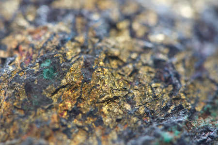 halide: Chalcocite, copper(I) sulfide (Cu2S), is an important copper ore mineral. It is opaque and dark-gray to black with a metallic. It is a sulfide with an orthorhombic crystal system. Macro.