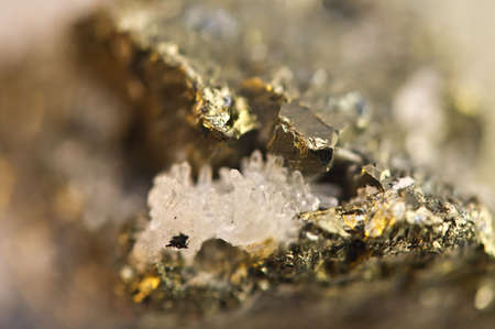 sulfide: Golden pyrite, fools gold, is an iron sulfide chemical formula FeS2. Macro