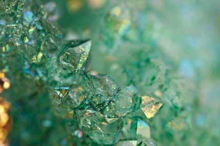 Druse groene kristallen Agaat SiO2 siliciumdioxide. Macro. Fantastische Mooie Achtergrond voor een succesvolle uw project