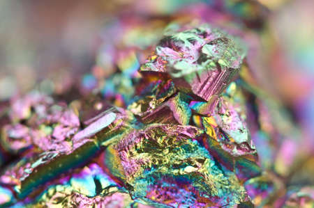 titan: Fantastic multi-coloured background from thin layer of the titan on a quartz surface Macro, for successful business projects and other Your variant